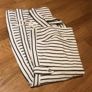 Banana republic dress. Shift striped navy white